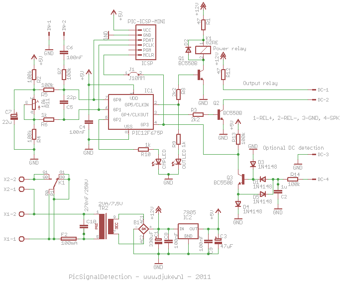 Signal setection schematic