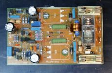 Assembled amplifier pcb