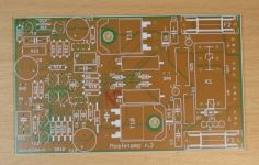 Empty amplifier pcb