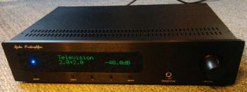 Multichannel preamplifier with integrated media player